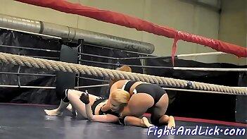 Wild lesbians wrestling and having fun